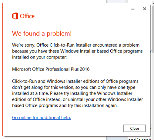 Office edition problem